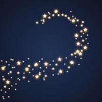 estrela cadente linha de cometa no fundo do céu noturno vetor