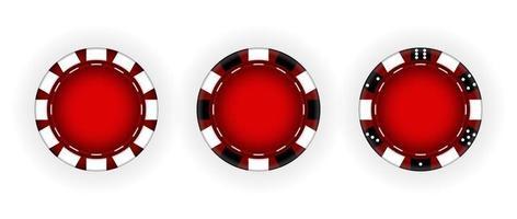 conjunto de fichas para o jogo de casino vetor