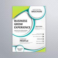 Folheto de negócios elegante colorido folheto modelo vector illustr