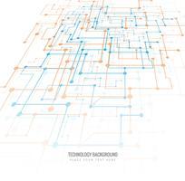 Fundo tecnológico com um design de circuito vetor
