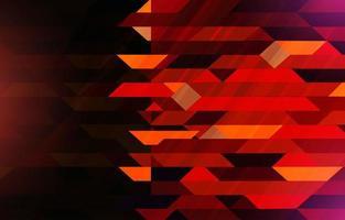 fundo de composição dinâmica geométrica vermelha vetor
