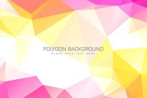 Ilustração de fundo colorido de polígono vetor
