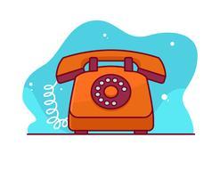 Telefone rotativo vetor