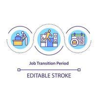 ícone de conceito de período de transição de trabalho vetor