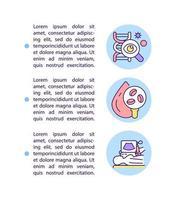 ícones de linha de conceito de diagnóstico com texto vetor