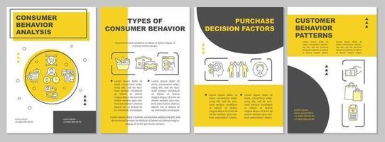 modelo de folheto de análise de comportamento do consumidor vetor