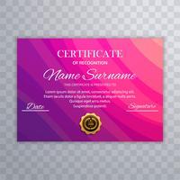 Vetor de modelo colorido de diploma certificado lindo