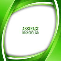 Fundo ondulado verde criativo abstrato vetor
