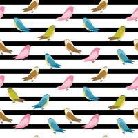 pássaro abstrato sem costura de fundo vetor