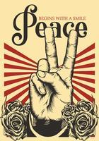Design de vetor de cartaz de paz