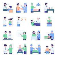 ícone de saúde com médicos vetor