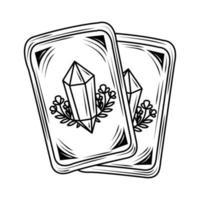 cartas de tarô mágicas vetor