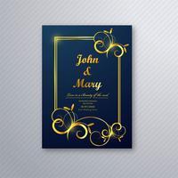 Vetor de projeto de modelo de panfleto de cartão de casamento de luxo