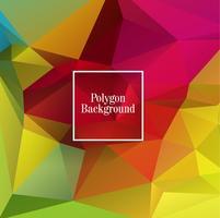 Ilustração de fundo abstrato colorido polígono
