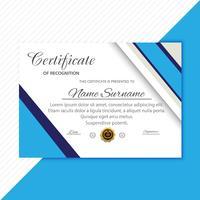 Fundo de design criativo de certificado moderno vetor