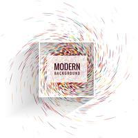 Fundo de pontos de redemoinho colorido moderno vetor