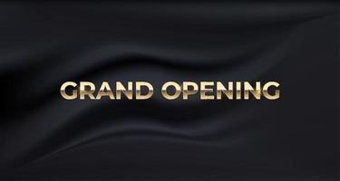grande inauguração cartão cartaz de negócios fundo de seda de luxo vetor