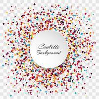 Vetor de fundo transparente de confetes coloridos de celebração