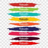 Mão de aquarela colorida abstrata desenhar traços set vector illust