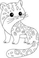 página de colorir para crianças leopardo da neve, excelente para livro de colorir para iniciantes vetor