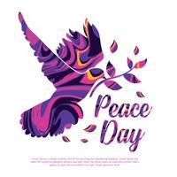 Design de vetor do dia da paz