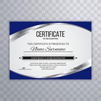 Modelo de certificado Premium vect diploma fundo onda vect vetor