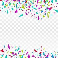 Projeto colorido do confetti da celebração abstrata da festa do fundo vetor