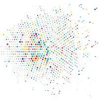 Fundo de meio-tom colorido moderno vetor