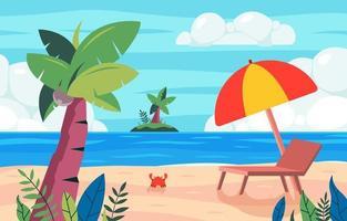 bela praia para a celebração do verão vetor