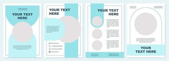 modelo de folheto educacional criativo vetor