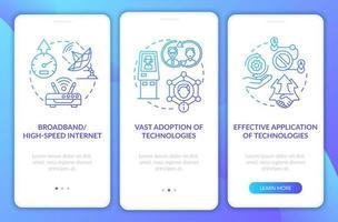 tela da página do aplicativo de integração navy de inclusão digital com conceitos vetor