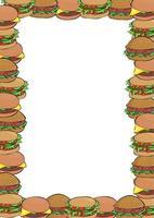 borda saborosa de hambúrguer de queijo vetor