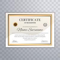 Fundo de modelo de certificado bonito vetor