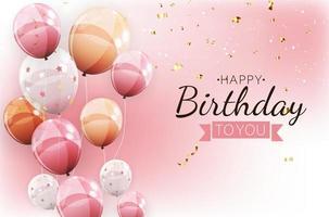 Ilustração em vetor fundo banner colorido feliz aniversário colorido