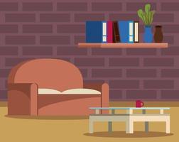ícone de cena de casa da sala de estar vetor
