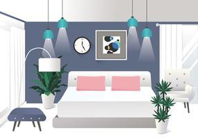 elementos de design de interiores realista vol 2 vector