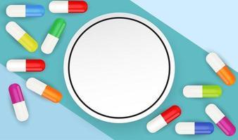 antecedentes médicos de saúde com comprimidos vetor