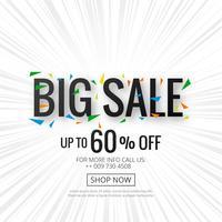 Grande venda banner cartaz modelo fundo vector