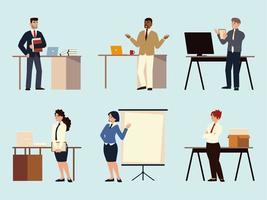 pessoas de negócios discussão brainstorming conceito de trabalho em equipe vetor