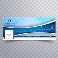 Design de modelo de cronograma de facebook médica vetor