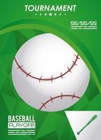 pôster de esporte de beisebol com bola vetor
