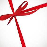 vale-presente com fita vermelha e laço vetor