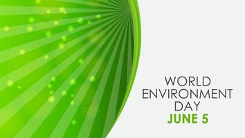 conceito do dia do meio ambiente mundial vetor