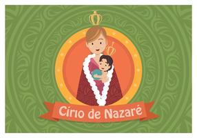 Cirio de Nazaré vetor