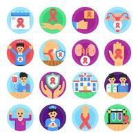 pacote de doenças cancerosas vetor
