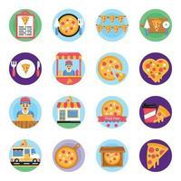 conjunto de pizza fest vetor