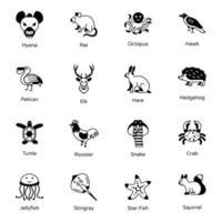 animais e criaturas marinhas vetor