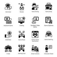 pacote de jogos de console vetor