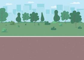 ilustração em vetor park way flat color