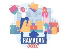 ilustração em vetor conceito plana ramadan sale